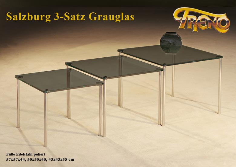 couchtisch salzburg 3 satz grau. Black Bedroom Furniture Sets. Home Design Ideas